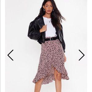 Nasty Gal high waisted polka dot skirt NWT